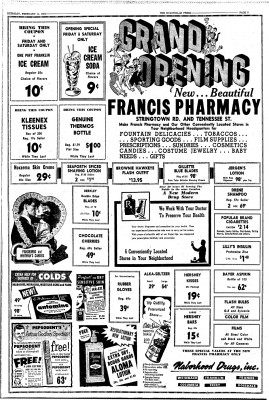 Grand opening flyer Francis Pharmacy