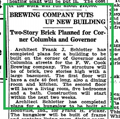 Article from Jul 5 1914 announcing the new building