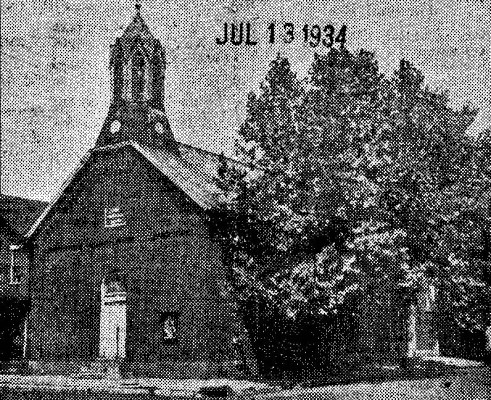 Salem Evangelical 1934 when it still had a tower