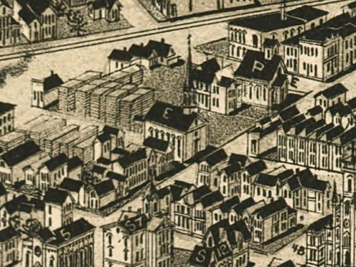 "Salem Evangelical from the 1888 map (marked ""E"")"