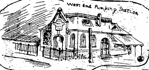 Sketch of the West End Pumping Station c1904