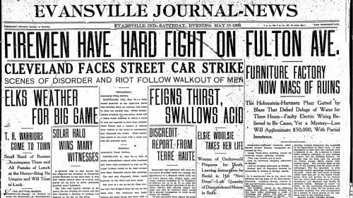Evansville Journal News 5/16/1908