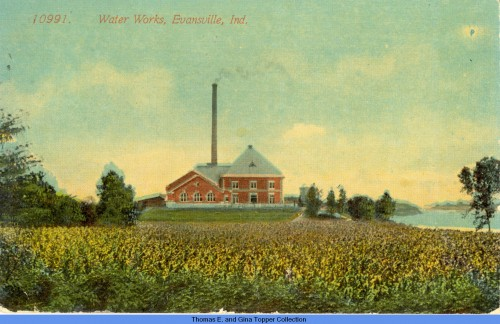 Water Works postcard c1900