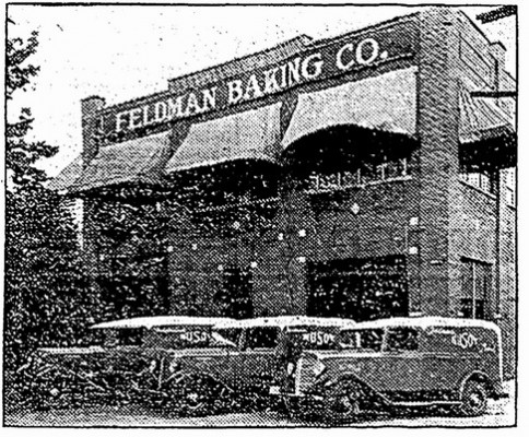 Feldman Baking Company displaying their fleet of International trucks 1935