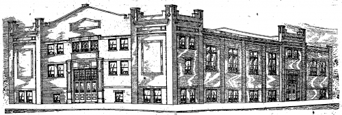 Sketch of the new hall for the Turnvereins