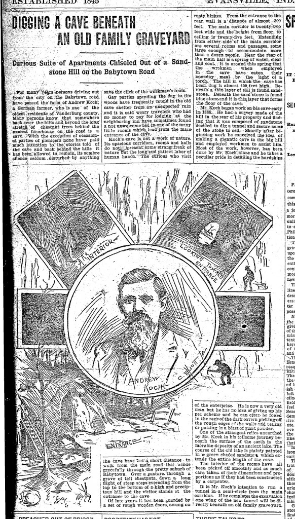 West Heights Cave  Courier 10/31/1898