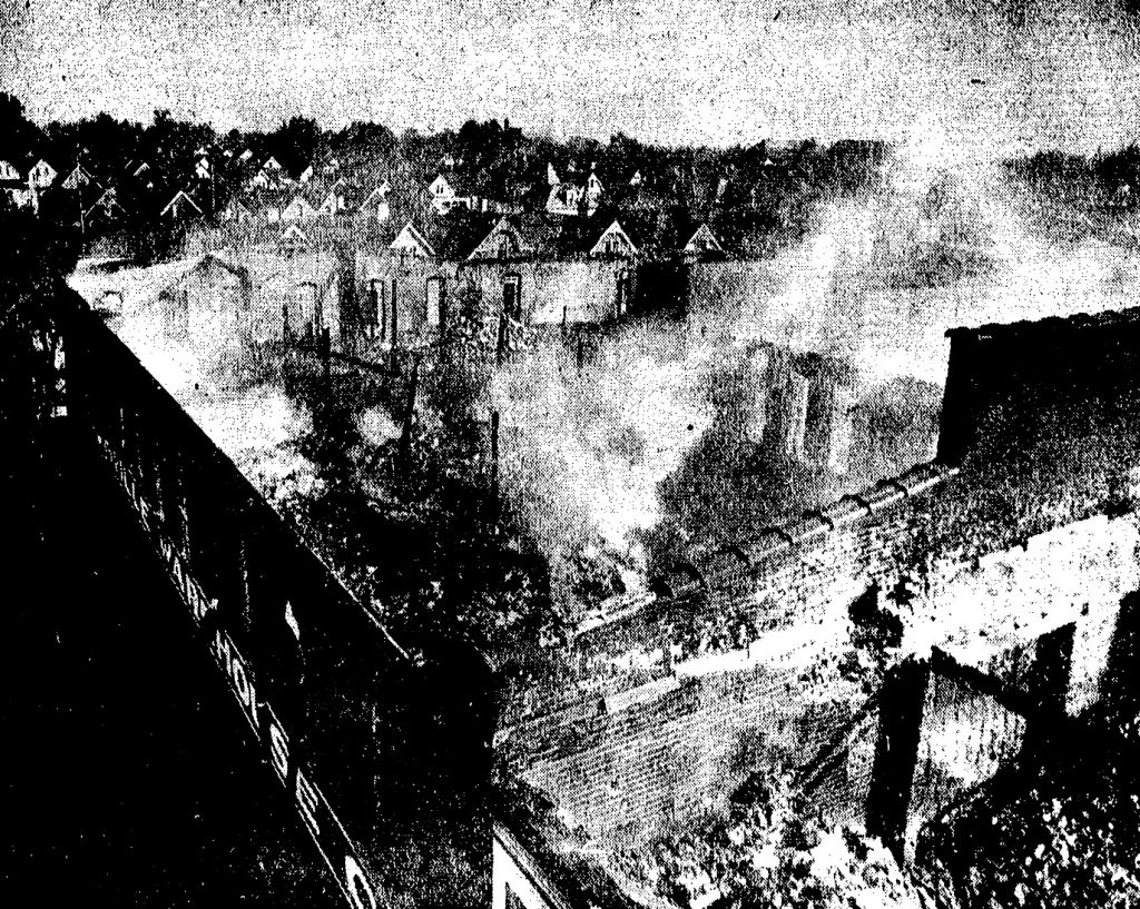 Remnants of the Evansville Warehouse fire Oct 29, 1953
