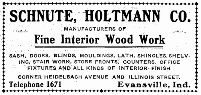 1906 advertisement for Schnute, Holtmann Co