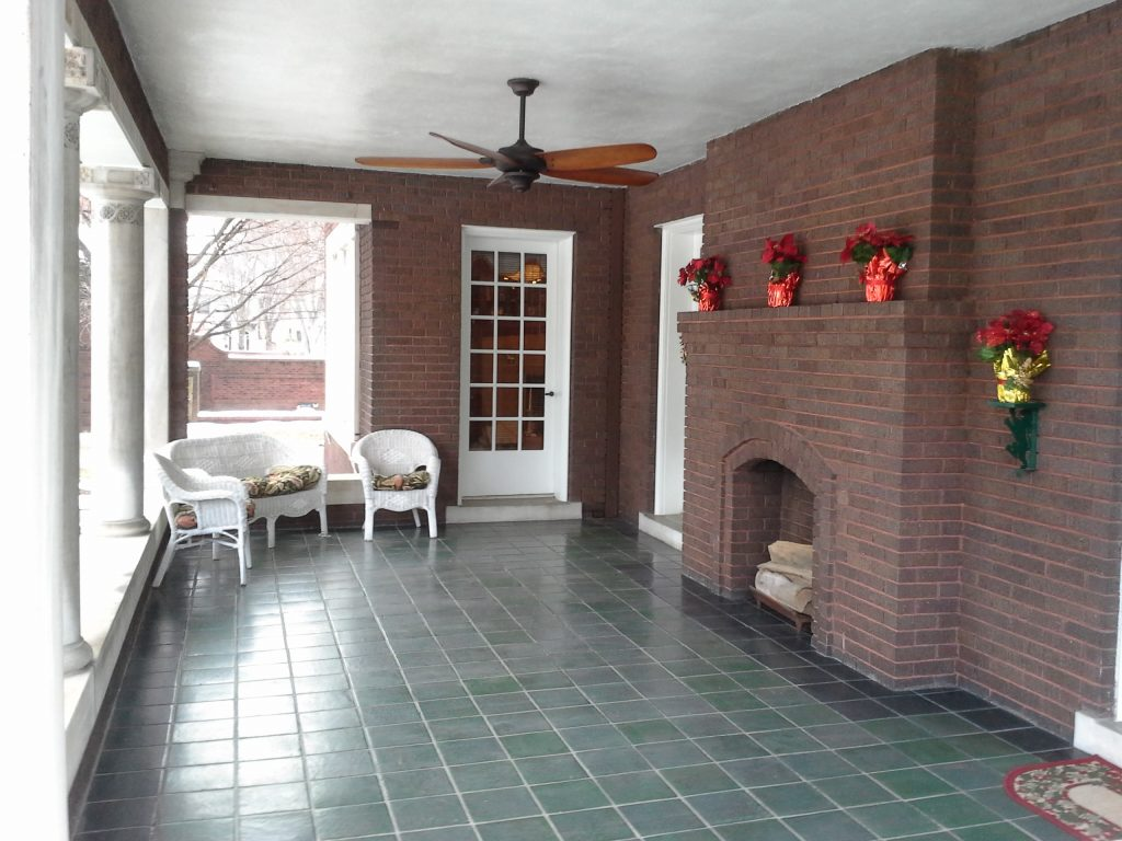 Outdoor porch from 2013 Riverside Tour