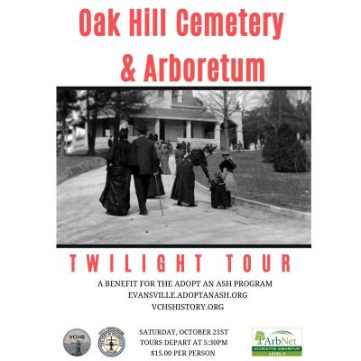 Oak Hill Cemetery and Arboretum Twilight Tour – Benefit for the Adopt an Ash Program @ Oak Hill Cemetery and Arboretum  | Evansville | Indiana | United States